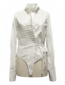 Camicia asimmetrica Marc Le Bihan colore bianco 26602
