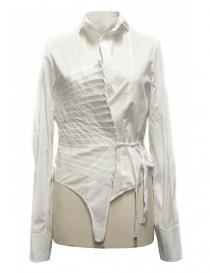 Womens shirts online: Marc Le Bihan white asymmetrical shirt