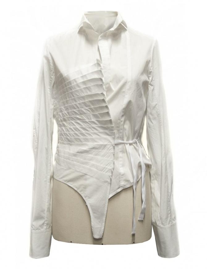 Camicia asimmetrica Marc Le Bihan colore bianco 26602 camicie donna online shopping