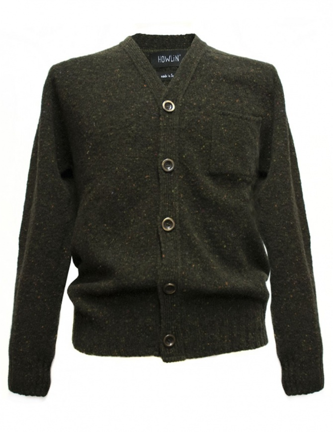 Howlin' by Morrison green cardigan ED-MOSS mens cardigans online shopping