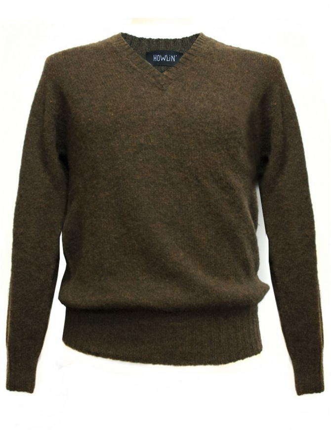 Howlin' by Morrison brown pullover SHORTY-MIX-H mens knitwear online shopping