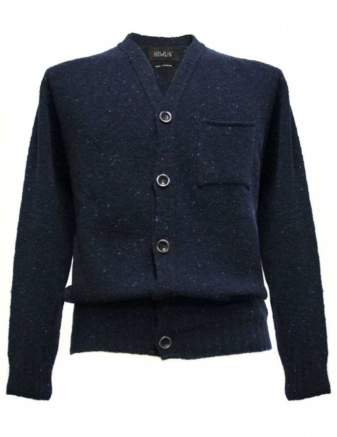 Howlin' by Morrison navy blue cardigan ED-NAVY mens cardigans online shopping