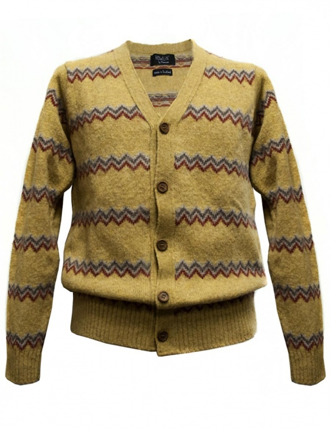Cardigan Howlin' by Morrison colore giallo HAPPY CLAPPY SUNSHINE cardigan uomo online shopping