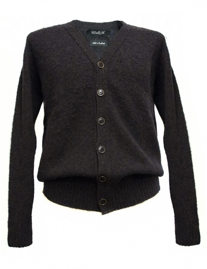 Howlin' by Morrison brown cardigan WILL-O-THE-W mens cardigans online shopping