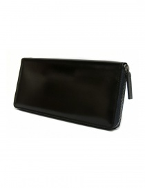 Ptah black navy leather wallet PT150503 NAVY