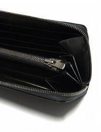 Portafoglio Ptah in pelle nera navy portafogli acquista online
