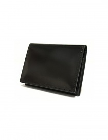 Ptah Fuukin black leather business card holder online