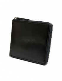 Ptah black navy leather wallet PT150506-NAV