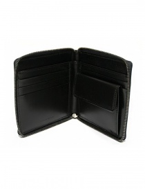 Ptah black navy leather wallet buy online