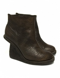 Stivaletto Guidi 6006 in pelle marrone 6006-WRINKL-