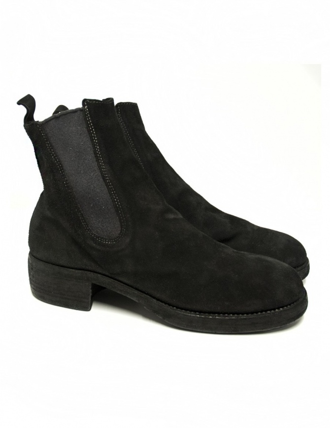 Guidi 76Z black suede leather ankle boots 76Z-BABY-CAL womens shoes online shopping
