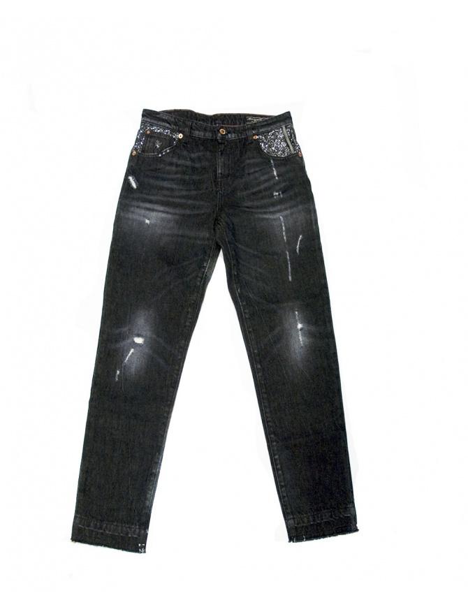 Jeans Shiny Boy Carrot Avantgardenim SHINY BLACK jeans donna online shopping