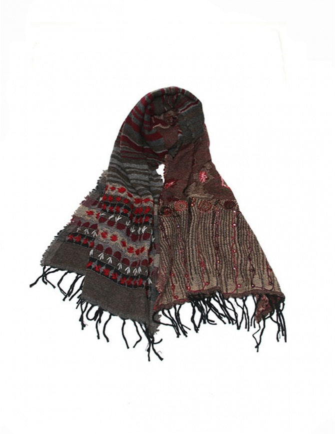 As Know As AsZacca flower scarf ZV0503 BROWN scarves online shopping