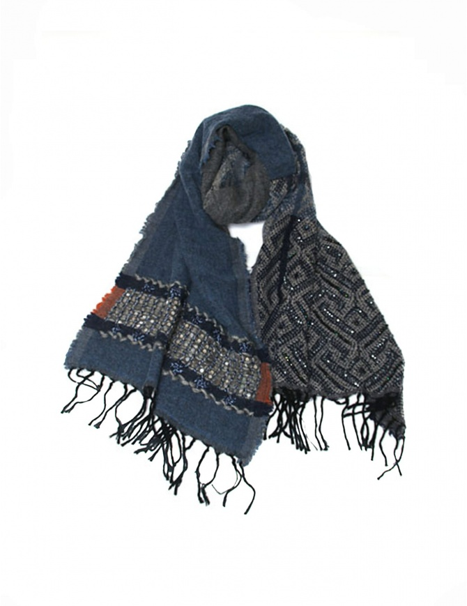 As Know As AsZacca pailettes scarf ZV0503 BLUE scarves online shopping