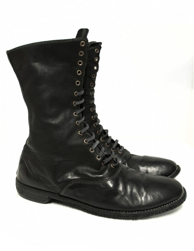 Stivaletto Guidi 212 in pelle nera 212-KANGAROO