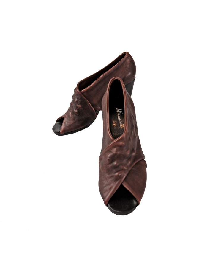 Brown leather Devrandecic shoes SEA SHELL WE womens shoes online shopping