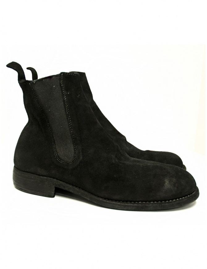Black suede leather ankle boots 96 Guidi 96-CALF-REVE mens shoes online shopping