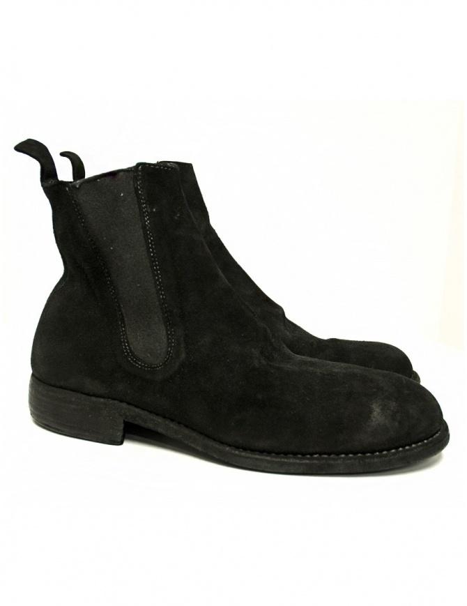 Stivaletto Guidi 96 in pelle scamosciata nera 96-CALF-REVE calzature uomo online shopping