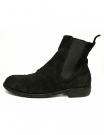Black suede leather ankle boots 96 Guidi buy online