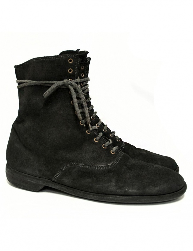Stivaletto Guidi 212 in pelle scamosciata nera 212-CORDOVAN calzature uomo online shopping