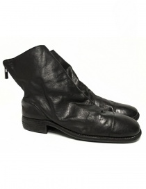 Mens shoes online: Guidi 986 black leather ankle boots