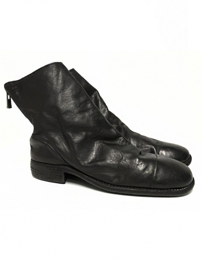 Guidi 986 black leather ankle boots 986 HORSE FG BLKT mens shoes online shopping