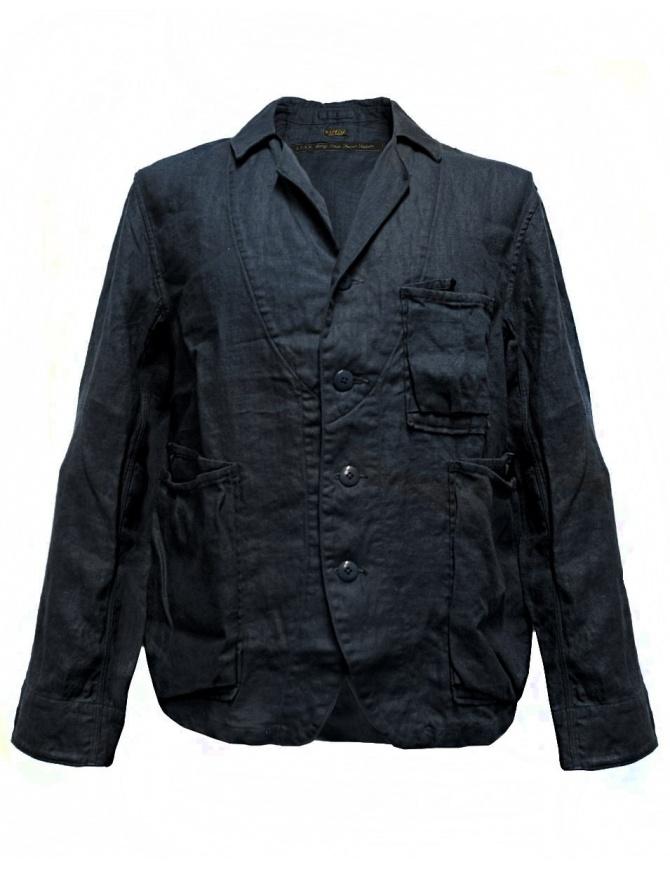 Kapital navy blue linen jacket k1604LJ108 NAVY mens suit jackets online shopping