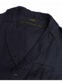 Giacca Kapital in lino colore navy prezzo