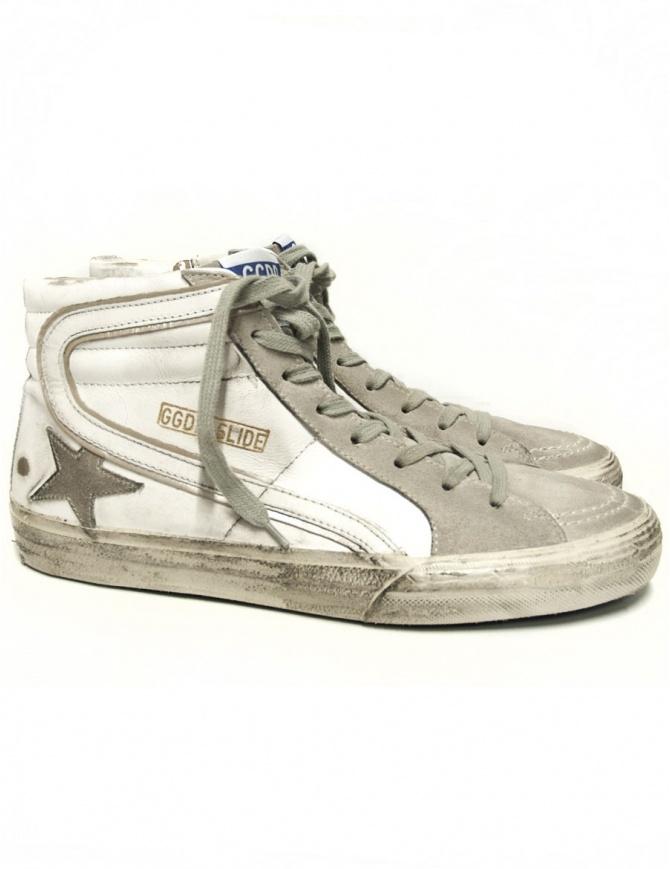 Sneaker Golden Goose Slide colore bianco GCOMS595-M1 calzature uomo online shopping