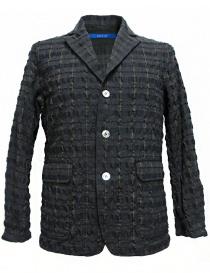 Mens suit jackets online: Sage de Cret grey prominent check texture jacket