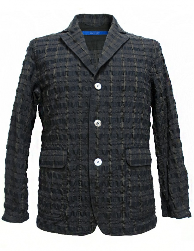Sage de Cret grey prominent check texture jacket 31-70-3988 JACKET COL20 mens suit jackets online shopping