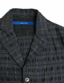 Sage de Cret grey prominent check texture jacket price