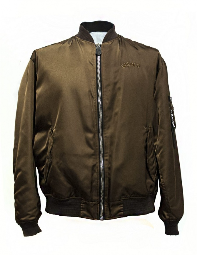 Golden Goose Oversized Bomber brown jacket G30MP561.A1 mens jackets online shopping