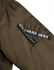 Giubbino Golden Goose Oversized Bomber colore marrone acquista online