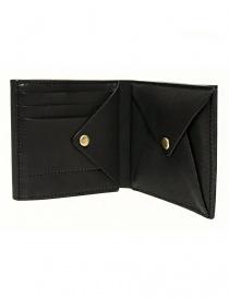 Portafoglio Cornelian Taurus Fold in pelle nera acquista online