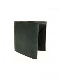 Portafoglio Cornelian Taurus Fold in pelle verde FOLD-WALLET-GREEN order online