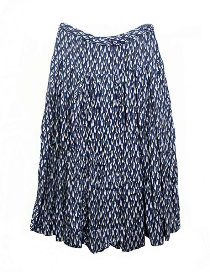 Casey Casey bloom indigo skirt 08FJ42-BLOOM-INDIGO womens skirts online shopping