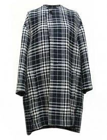 Cappotti donna online: Cappotto Fadthree colore nero bianco e navy