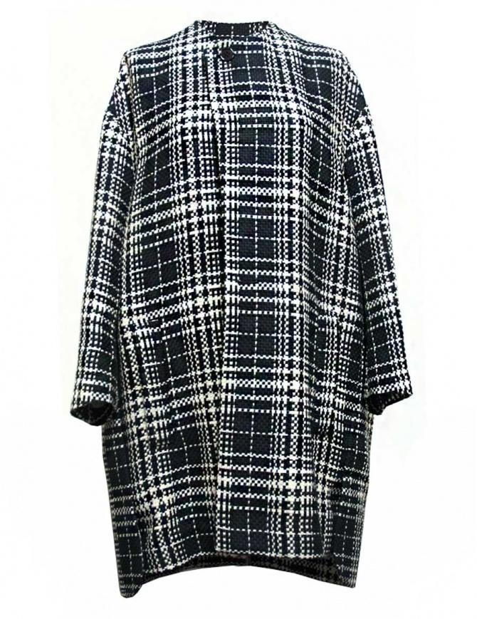 Cappotto Fadthree colore nero bianco e navy 13FDF05-04-NAVY-WHIT cappotti donna online shopping
