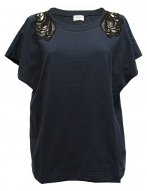 Harikae navy short sleeve sweater online