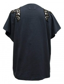 Harikae navy short sleeve sweater