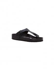Sandalo infradito Birkenstock Gizeh in pelle nera da donna online