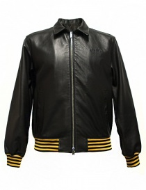 Golden Goose Coach black leather jacket online