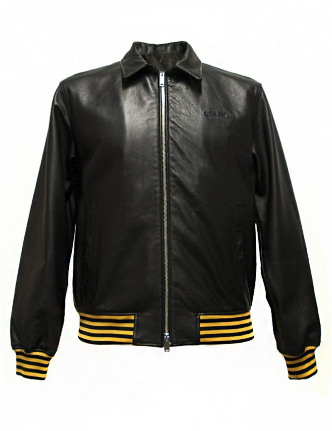 Golden Goose Coach black leather jacket G30MP539.A1 mens jackets online shopping