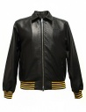 Golden Goose Coach black leather jacket buy online G30MP539.A1