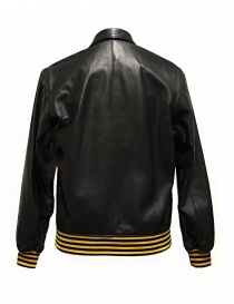 Golden Goose Coach black leather jacket buy online