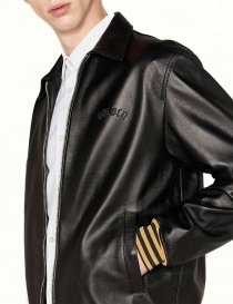 Golden Goose Coach black leather jacket price