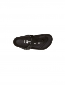 Black leather flip-flop Birkenstock Gizeh for woman price