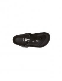Sandalo infradito Birkenstock Gizeh in pelle nera da donna prezzo