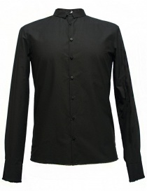 Mens shirts online: Label Under Construction Frayed Buttonholes black shirt